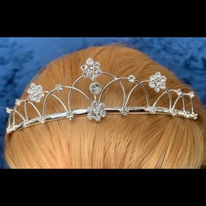 Accessories - Tiara crown hair accessory flowers bridal pageant